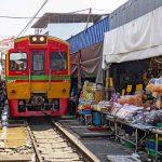 Mercado via de tren Bangkok