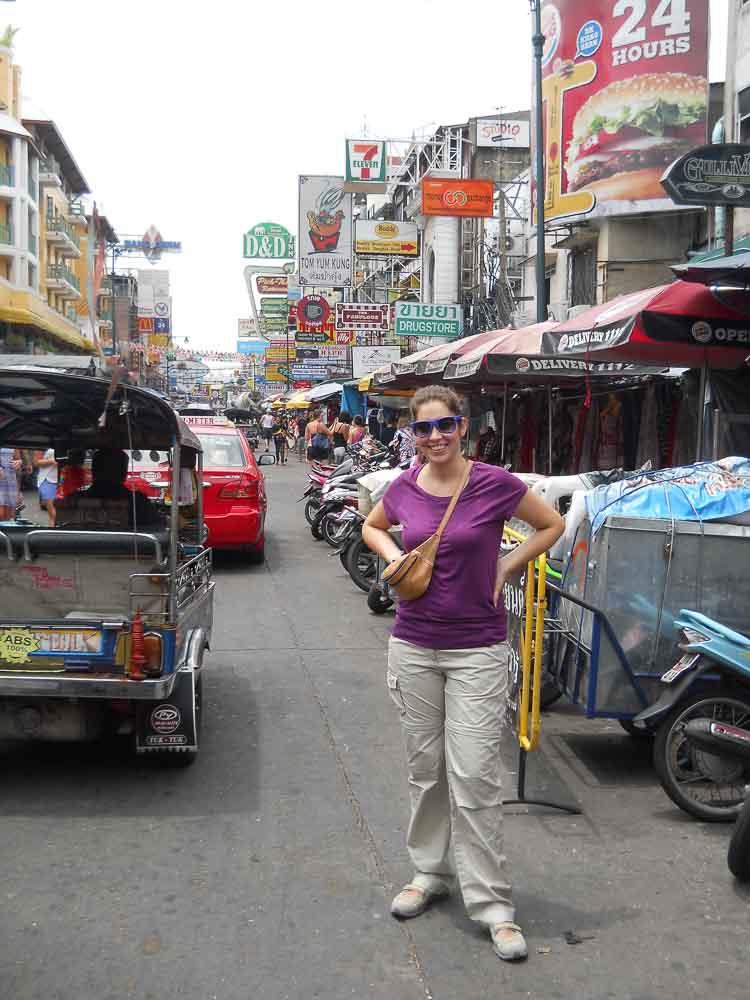 Calle mochilera en Bangkok