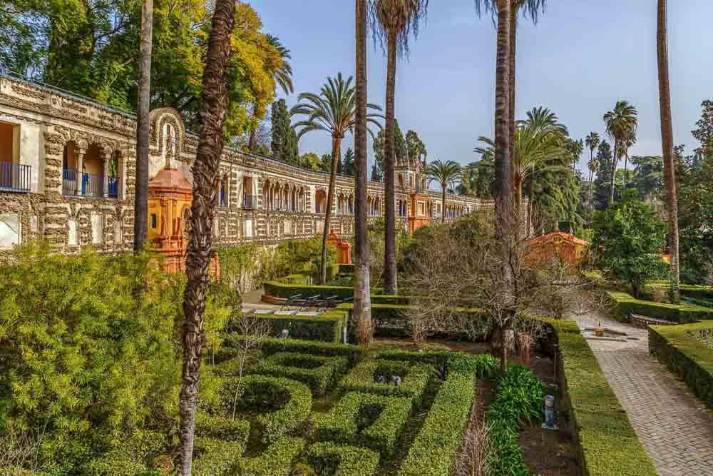 Jardines del Alcazar de Sevilla